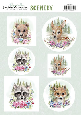 CDS10013 Scenery - Yvonne Creations Aquarella - forest animals