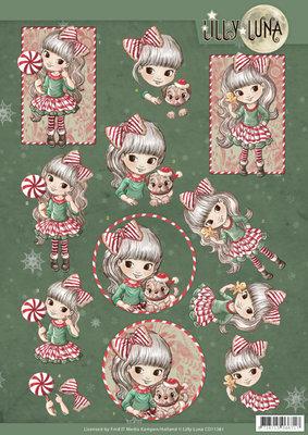 CD11381ï¾ 3D knipvel - Yvonne Creations - Lilly Luna Christmas Fun