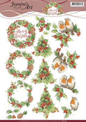 CD11175 3D Knipvel Jeanine's Art -ï¾Merry Christmas