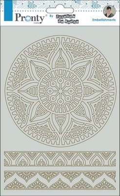 Pronty Chipboard mandala & borders By Jolanda A5 492.010.007 by Jolanda