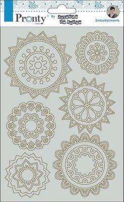 Pronty Chipboard mandala mini's By Jolanda A5 492.010.006 by Jolanda