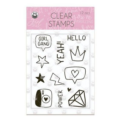 Piatek13 - Clear stamp set Girl Gang 01 P13-GRL-30