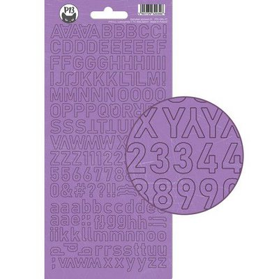 Piatek13 - Alphabet sticker sheet Girl Gang P13-GRL-17 10,5x23cm