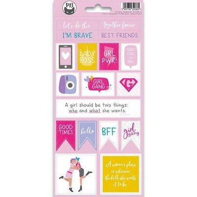 Piatek13 - Sticker sheet Girl Gang 02 P13-GRL-12 10,5x23 cm