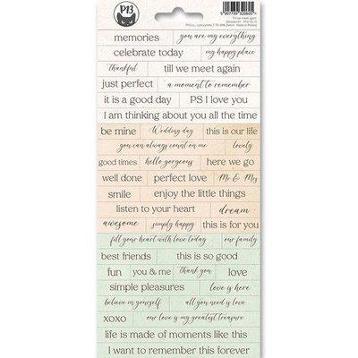 Piatek13 - Sticker sheet Till we meet again 01 P13-TIL-11 10,5x23 cm