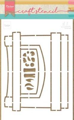 Marianne D Craft Stencil Open haard by Marleen PS8048 21x15 cm