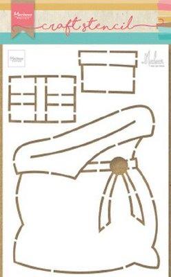 Marianne D Craft Stencil cadeau zak by Marleen PS8047 21x15 cm
