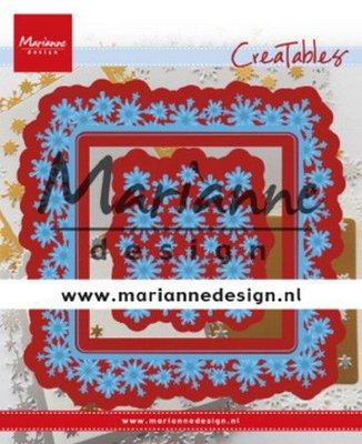 Marianne D Creatable Sneeuwvlokkenrand vierkant LR0633 130x160 mm
