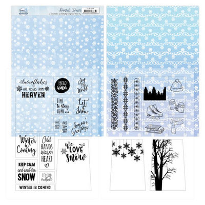 YCMC1006 Mica Sheets - Yvonne Creations - Sparkling Winter
