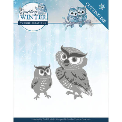 YCD10192 Dies - Yvonne Creations - Sparkling Winter - Winter Owls