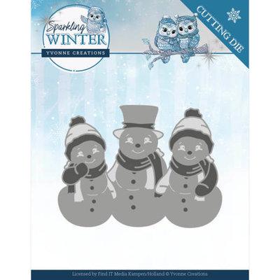 YCD10191 Dies - Yvonne Creations - Sparkling Winter - Sparkling Snowmen