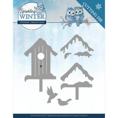 YCD10190 Dies - Yvonne Creations - Sparkling Winter - Winter Birdhouse