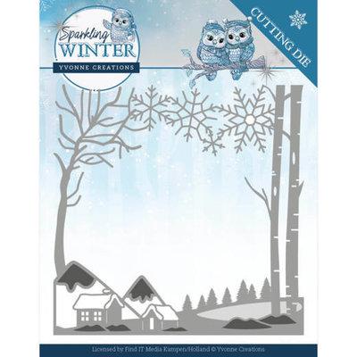 YCD10187 Dies - Yvonne Creations - Sparkling Winter - Winter Landscape