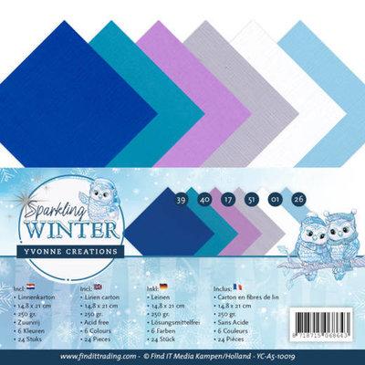 YC-A5-10019 Linnenpakket - A5 - Yvonne Creations - Sparkling Winter