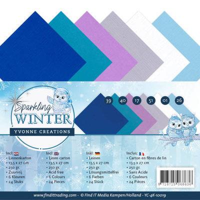 YC-4K-10019 Linnenpakket - 4K - Yvonne Creations - Sparkling Winter