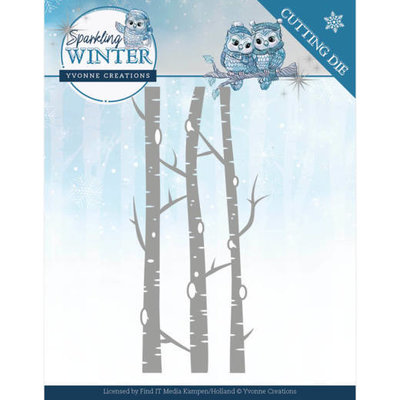 YCD10188 Dies - Yvonne Creations - Sparkling Winter - Birch Trees