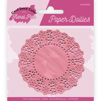 CDCPD10001 Paper Doillies - Yvonne Creations - Floral Pink