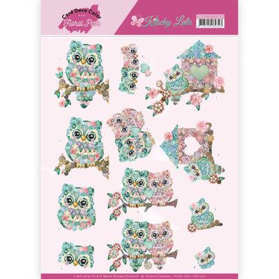 CD11420 3D Knipvel - Yvonne Creations - Kitschy Lala - Kitschy Owls