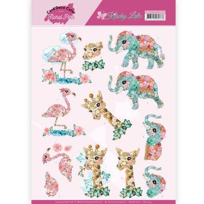 CD11419 3D Knipvel - Yvonne Creations - Kitschy Lala - Kitschy Animals