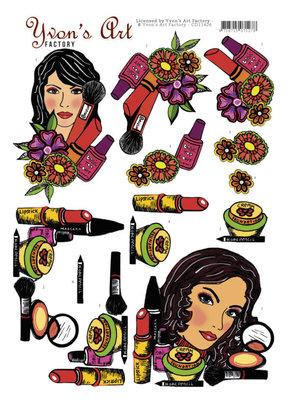CD11426 3D Knipvel - Yvon's Art - Make-Up