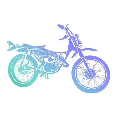 Couture Creations Men's Collection Motorcycle Mini Clear Stamp (CO726795)