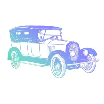 Couture Creations Men's Collection Vintage Car Mini Clear Stamp (CO726781)