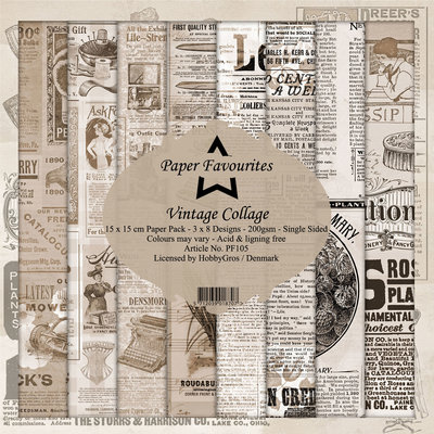 Dixi Craft Vintage Collage 6x6 Inch Paper Pack (PF105)