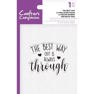 Crafter's Companion The Best Way Clear Stamps (CC-ST-CA-TBWAY)
