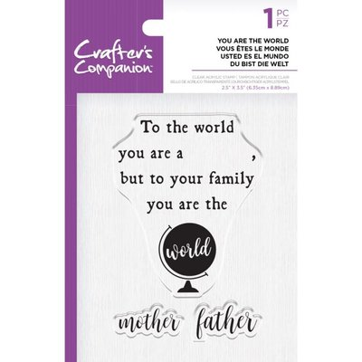 Crafter's Companion You are the World Clear Stamps (CC-ST-CA-YATW)