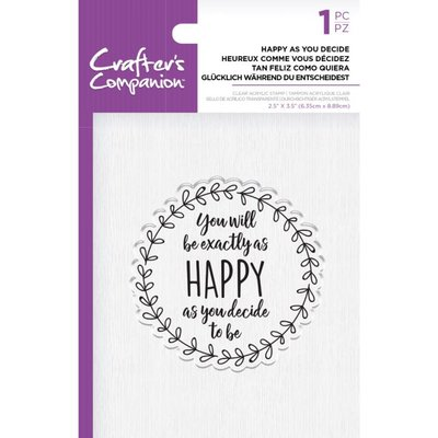 Crafter's Companion Happy as you Decide Clear Stamps (CC-ST-CA-HAYD)
