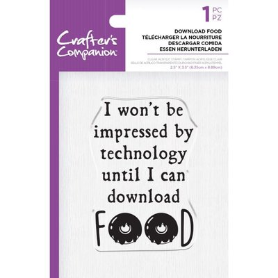 Crafter's Companion Download Food Clear Stamps (CC-ST-CA-DFOOD)