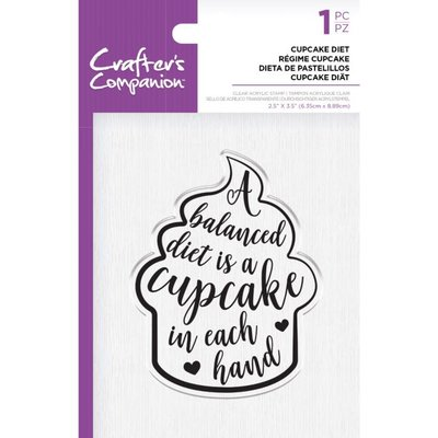 Crafter's Companion Cupcake Diet Clear Stamps (CC-ST-CA-CUPD)