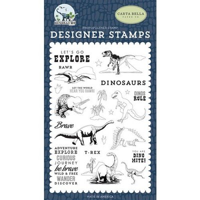 Carta Bella Dinos Rule Clear Stamps (CBDI110040)