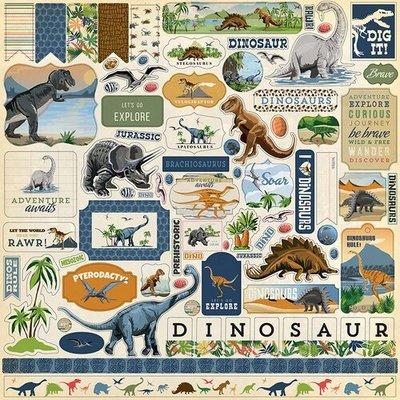 Carta Bella Dinosaurs 12x12 Inch Element Sticker (CBDI110014)