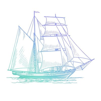 Couture Creations Men's Collection Hatched Tallship Mini Clear Stamp (CO726782)