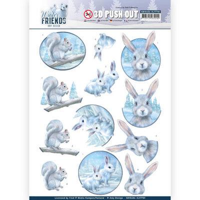 SB10406 - HJ17701 3D Pushout - Amy Design - Winter Friends - Arctic Friends