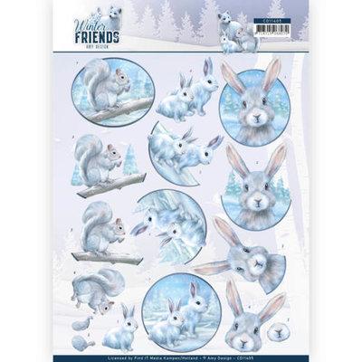 CD11405 3D Knipvel - Amy Design - Winter Friends - Arctic Friends