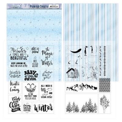 ADMC1006 Mica Sheets - Amy Design - Winter Friends