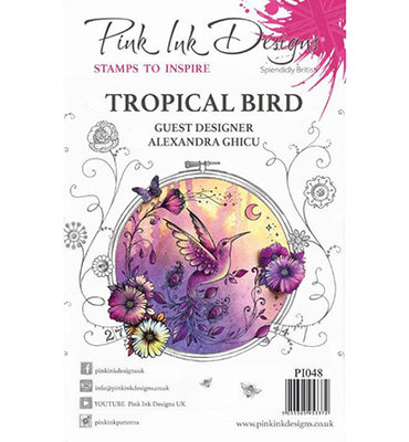 PI048 Pink Ink Designs A5 Clear Stamp Tropical Bird