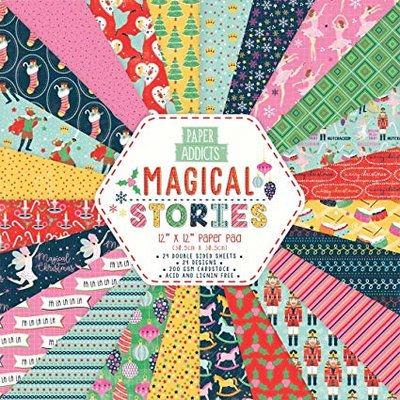 Paper Addicts Magical Stories 12x12 Inch Paper Pad  Magical Stories (PAPAD070X19) 24 sheets