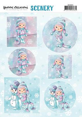 CDS10015 Scenery - Yvonne Creations Lola Winterfun
