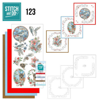 STDO123 Stitch and Do 123 Berries and Feathers