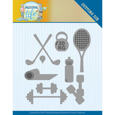 YCD10194 Dies - Yvonne Creations - Active Life - Active Sports