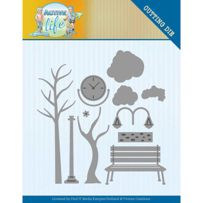 YCD10193 Dies - Yvonne Creations - Active Life - Park Scenery