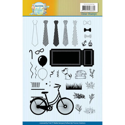 YCCS10054 Clear Stamps - Yvonne Creations - Active Life
