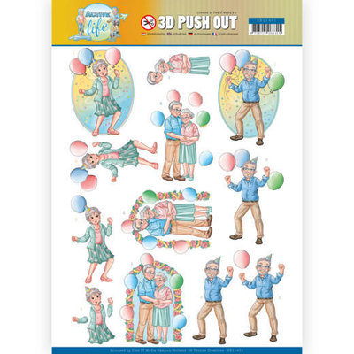 SB10401 3D Pushout - Yvonne Creations - Active Life - Party Together