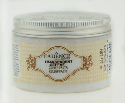 Cadence Transparante Relief Pasta 01 090 0001 0150  150 ml