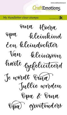 CraftEmotions clearstamps A6 - handletter - Opa & Oma (NL) Carla Kamphuis (01-20)