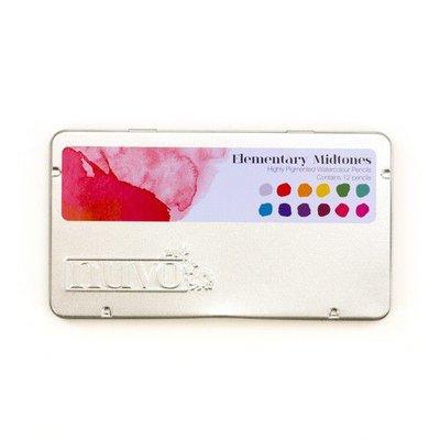 Nuvo watercolour potloden - Elementary Midtones 523N