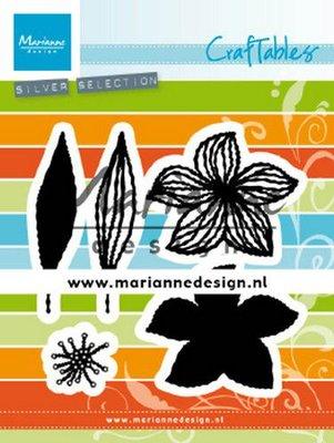 Marianne D Craftable open bloemen CR1493 55x45 mm